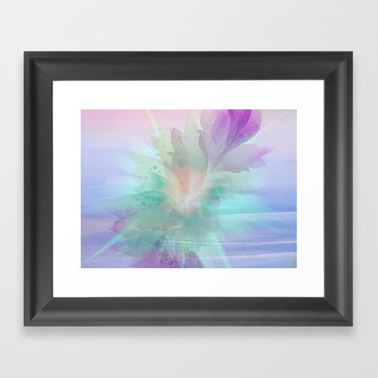 Wall Art Pastel Colours : Pastel color burst abstract framed art print by judy