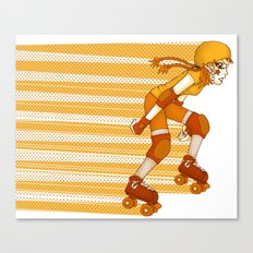 Roller Derby Skater by RonkyTonk Canvas Print