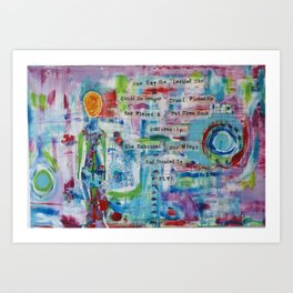 """Rearranged"" Original Mixed Media Acrylic Painting by Toni Becker, Artfully Healing Art Print"