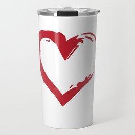 Heart Shape Symbol Travel Mug
