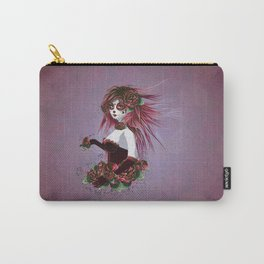 Sugar skull girl in purple Carry-All Pouch
