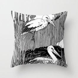 Storks Throw Pillow