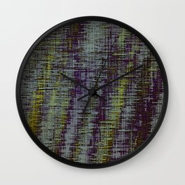 yellow blue and brown painting texture abstract background Wall Clock