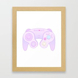Game Cute Framed Art Print