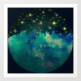 Big City Nights Art Print