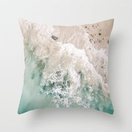 Frothy Fourth Beach Throw Pillow
