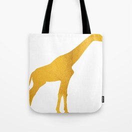 Giraffe Silhouette in Bold Gold Tote Bag