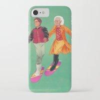 back to the future iPhone & iPod Cases featuring Back to the Future by Dave Collinson