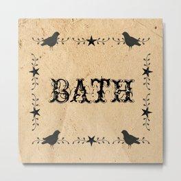 Primitive Bath Metal Print