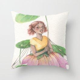 An Umbrella For Ana Throw Pillow