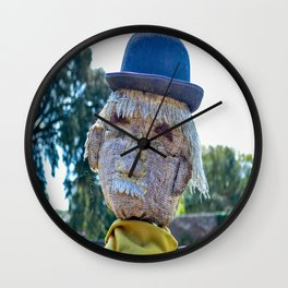 The Lost Gardens of Heligan - Diggory the Scarecrow's Face Wall Clock