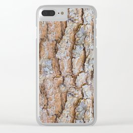 Pine bark textures Clear iPhone Case