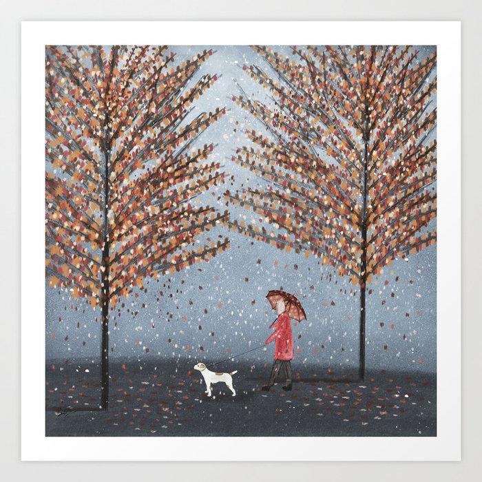 early morning rain Art Print