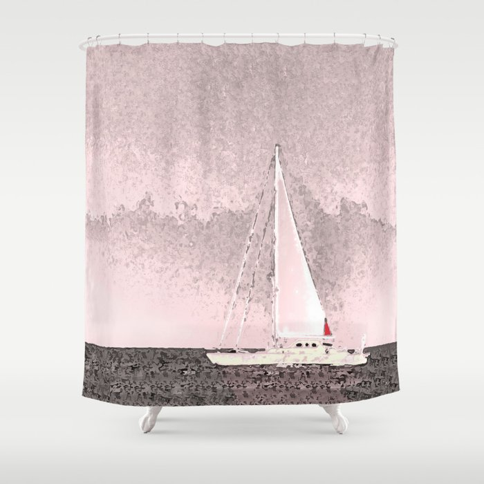 Sailboat 8 Art Of The Sea By Murray Bolesta Shower Curtain