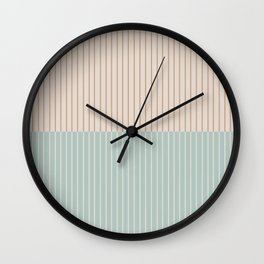 Color Block Lines XX Vintage Seafoam Wall Clock