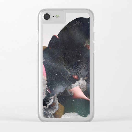 Marble chill #space Clear iPhone Case