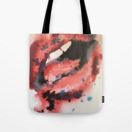 Red watercolor lips Tote Bag
