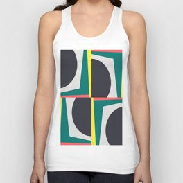 Modern Geometric 65 Green Unisex Tank Top