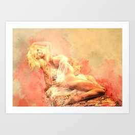 Gentle Touch Art Print