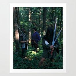 5 of Swords Art Print