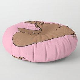 Poopy wiener Floor Pillow
