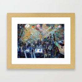 Flowers and The Promised Land Framed Art Print