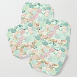 MERMAID SHELLS - MINT & ROSEGOLD Coaster