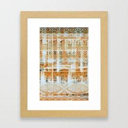 needlepoint sampler in sunny rays Framed Art Print