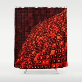 Bits pattern Shower Curtain