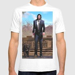 John Wick with bull dog T-shirt