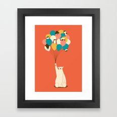 Penguin Bouquet Framed Art Print