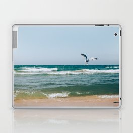 Gull Flight Over Lake Michigan Laptop & iPad Skin