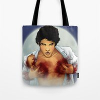 teen wolf Tote Bags featuring Teen Wolf by Kimball Gray