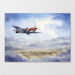 P-40 Warhawk Aircraft Canvas Print