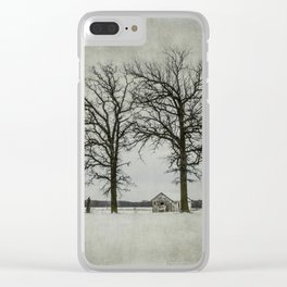 I try to pretend that I'm not alone. Clear iPhone Case