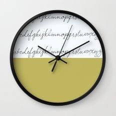 Alphabet-Gold Wall Clock