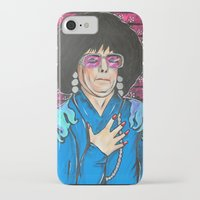 snl iPhone & iPod Cases featuring SNL Mike Meyers as Linda Richman by Portraits on the Periphery