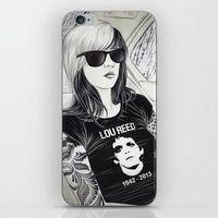 lou reed iPhone & iPod Skins featuring Lou Reed by IvándelgadoART