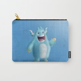 Cute little blue singer monster - Custom T Shirt Carry-All Pouch