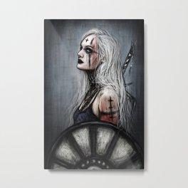 Gothic Shieldmaiden Metal Print