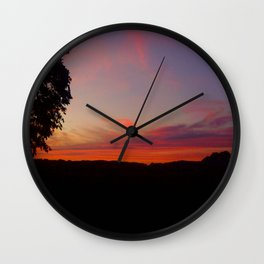 sunset hwy 13 Wall Clock
