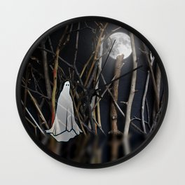 Lonely Ghost Wall Clock