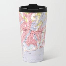 Dennis and Yarmouth Massachusetts Map (1974) Travel Mug