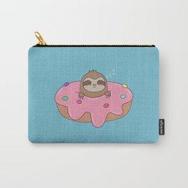 Kawaii Cute Sloth Donut Carry-All Pouch