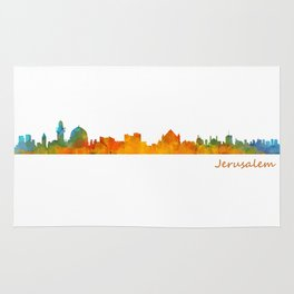 Jerusalem City Skyline Hq v1 Rug