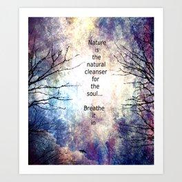 Natural Cleanser Art Print
