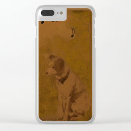 His Master's voice Clear iPhone Case