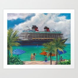 Ride to Paradise, Fantasy Art Print