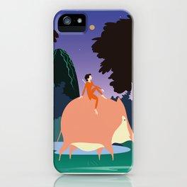 Pig boy iPhone Case