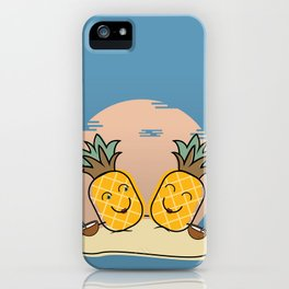 Pineapples at the Beach iPhone Case